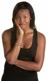 Gladlynt jamaikansk kvinna Royaltyfri Fotografi