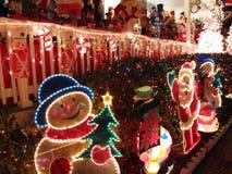 gladlynt julskärm Fotografering för Bildbyråer
