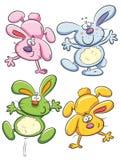 gladlynt kanin stock illustrationer