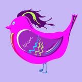 Gladlynt karmosinröd fågel Royaltyfri Foto
