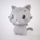 Gladlynt kattunge Arkivbild