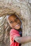 Gladlynt och lycklig unge från östliga Uganda Royaltyfria Bilder