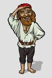 Gladlynt piratkopiera Fotografering för Bildbyråer