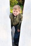gladlynt pojke Arkivbild