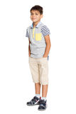 Gladlynt pojke i kortslutningar Royaltyfri Foto