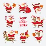 Gladlynt Santa Claus År av geten 2015 royaltyfri illustrationer