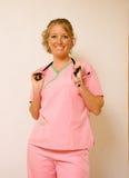 gladlynt sjuksköterska Royaltyfria Foton