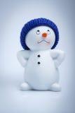 gladlynt snowman Arkivfoto