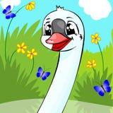gladlynt swan stock illustrationer