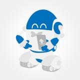 Gladlynt underteckna upp roboten royaltyfri illustrationer