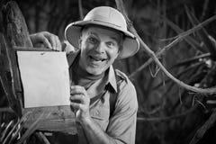 Gladlynt utforskare Fotografering för Bildbyråer