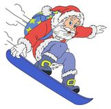 Gladlynta Santa Claus Cartoon Royaltyfri Foto