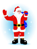 Gladlynta Santa Claus med gåvor Royaltyfri Foto