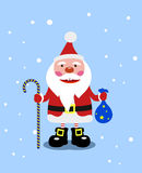 Gladlynta Santa Claus med gåvor Fotografering för Bildbyråer