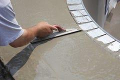 Gladmakend nieuw beton stock foto's