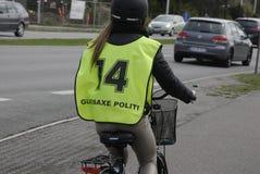 GLADSAXE POLIICE roweru testowanie Obraz Royalty Free