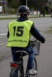 GLADSAXE POLIICE roweru testowanie Fotografia Stock