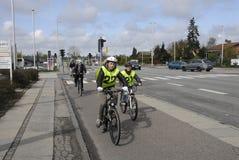 GLADSAXE POLIICE roweru testowanie Fotografia Royalty Free