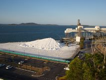 Gladstone przemysłowy kompleks na wybrzeżu Obraz Royalty Free