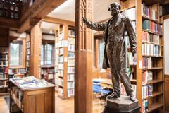 Gladstone's Library Statue Royalty Free Stock Photo