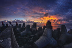 Glagah海滩 免版税库存图片
