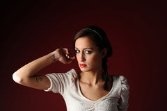 glam девушки Стоковая Фотография RF