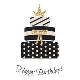 Glam birthday cake for girls. Royalty Free Stock Image