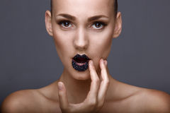 Glam closeup sho Royalty Free Stock Photography