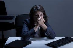 Glam en schreeuwende arbeider Stock Foto