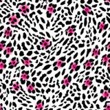 Glam leopard seamless vector print Stock Photos