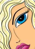 Glam piękno twarz piękny młodej dziewczyny zakończenie up Fotografia Stock