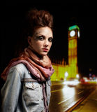 Glam punk girl Stock Photo