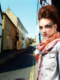 Glam punk girl Royalty Free Stock Photo
