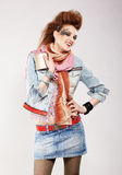 Glam punk girl Stock Photography