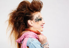 Glam punk girl Royalty Free Stock Photography