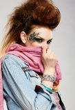 Glam punk girl Stock Photos