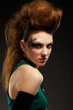 Glam punk girl. Portrait of glam punk redhead girl Royalty Free Stock Photos