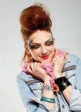 Glam punk girl Stock Images
