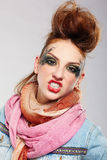 Glam punk girl Stock Image