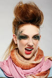 Glam punk girl Royalty Free Stock Photos