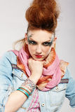 Glam punk girl Royalty Free Stock Images