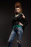 Glam punk girl Royalty Free Stock Photos