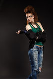 Glam punk girl Stock Photography