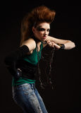Glam punk girl Stock Photos