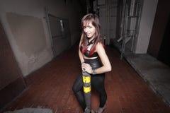 Glam Punk Rocker at night Royalty Free Stock Images