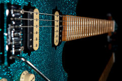 Glam rock guitar. Stunning electric guitar with beautiful glitte Royalty Free Stock Images