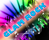 Glam Rock Indicates Sound Tracks And Harmonies. Glam Rock Representing New Romantics And Acoustic Stock Photos