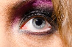 Glam rock woman Stock Photography