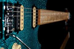 Glam rockowa gitara Oszałamiająco gitara elektryczna z pięknym glitte Obrazy Royalty Free