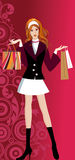 Glam Shopping Girl Stock Photography